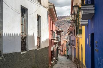 Kolonialstrasse Calle Jaen in La Paz, Bolivien