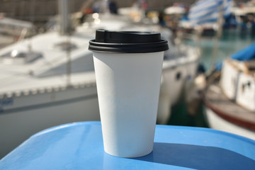 Paper cup of coffee