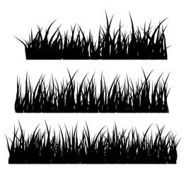 Grass silhouette vector symbol icon design.