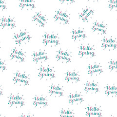 Hello Spring Time vector background.