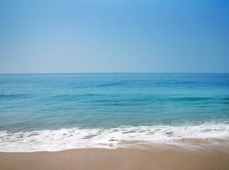 Summer exotic sandy beach Kerala