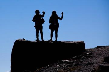 Selfies unter dem Gipfel von Whistler