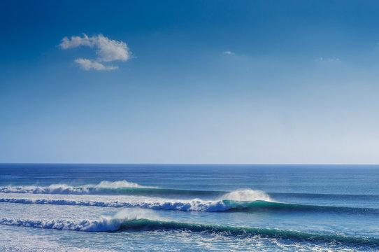 ocean waves, seascape background
