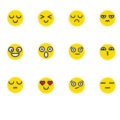 flat style trend smile logo design vector illustration