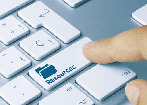 Resources. blue