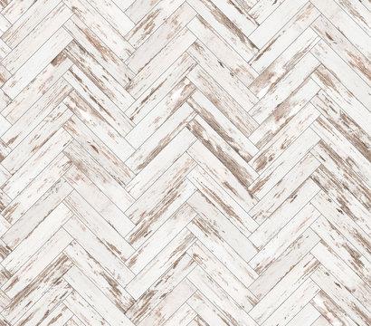 Herringbone old painted parquet seamless floor texture