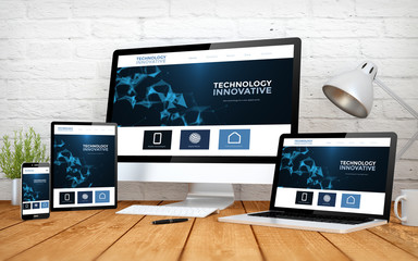 innovative website screen multidevices