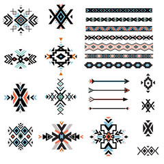 Set of geometrical tribal elements