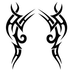 Tribal designs. Tribal tattoos. Art tribal tattoo. Vector sketch of a tattoo.