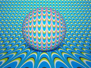 Optical Illusion Roll Ball