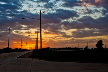 sunset and the open road