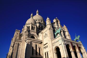 Sacre Coeur Basilica on Montmartre, Paris, France.