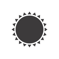 gray silhouette with abstract sun close up vector illustration