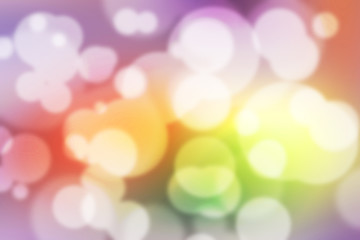 Colorful Bokeh Background (Colorful Blurred Wallpaper).