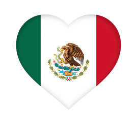 Flag of Mexico Heart