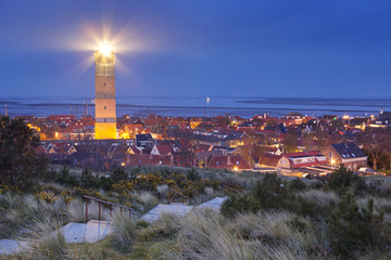 Brandaris lighthouse on Terschelling, The Netherlands at night