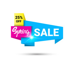 Spring Sale Shopping Special Offer Holiday Banner Flat Vector Illustration