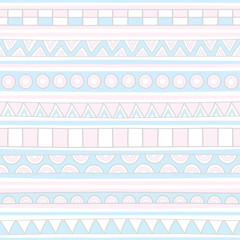 Pink and blue seamless pattern background