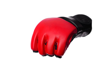 Kick-boxing gloves isolated on the white isolated