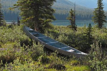 Boot am Waterfowl Lake