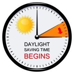 Clock. Summer time. Daylight saving time