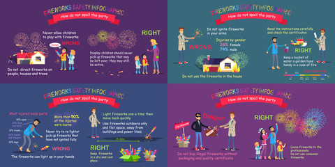 Fireworks Safety Infographic Comparative Poster