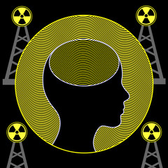 Radiation and Human Brain. Electromagnetic waves of mobile towers influence the function of the brain