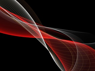 Abstract glowing beautiful motion red waves background for design