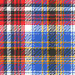 Blue check plaid tartan seamless pattern