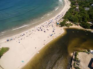 Aerial View of Barra do Una Beach, Sao Paulo, Brazil