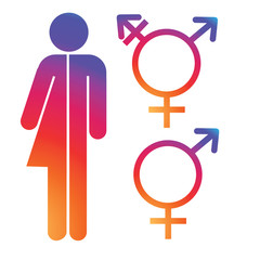 Unisex symbol icon collection. Male and female symbols. EPS 10 vector.