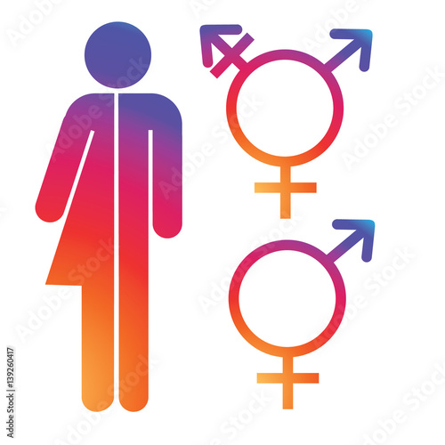 Unisex Symbol Icon Collection Male And Female Symbols Eps 10