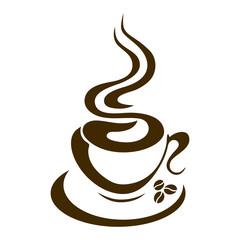 hot coffee cup vector