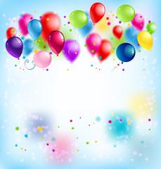 Blur happy birthday card