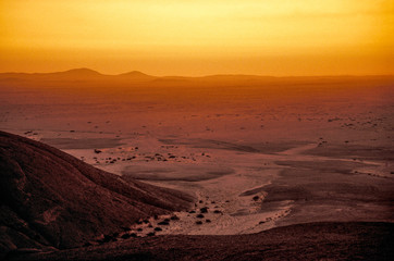 Photo Blinds Fantasy Landscape Hill Vogelfederberg, sunset, Namibia, Namib desert, Namib Nauklu