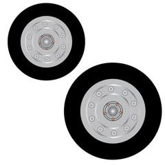 Wheel icon. Flat tire. Flat vector stock illustration.