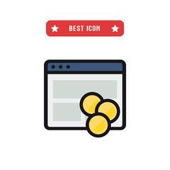 Web money vector icon