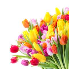 Bunter Blumenstrauß mit Tulpen