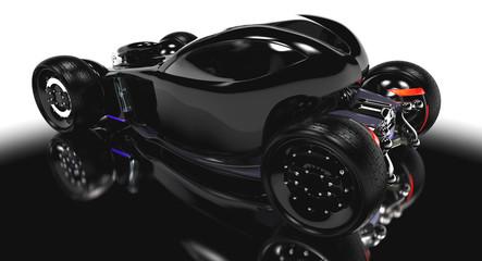 black electric concept car