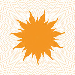 Sun shape with inside power waves