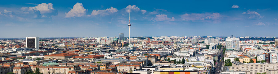 Beautiful panorama of the skyline of Berlin