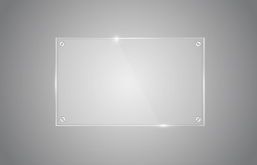 Transparent glass board