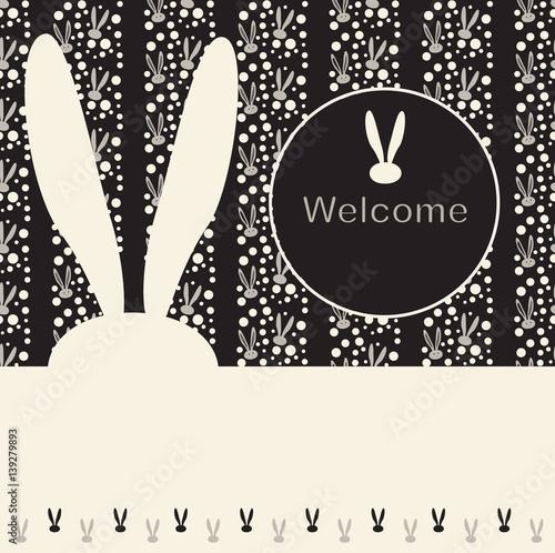 Easter rabbit invitation vector illustration rabbit print bunny easter rabbit invitation vector illustration rabbit print bunny ears pattern spring holiday stopboris Choice Image
