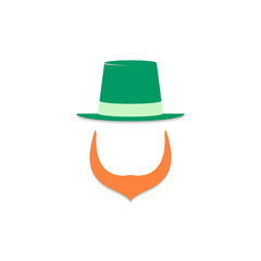 Irish leprechaun logo. St. Patrick's day. Vector