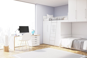 Close up of teenager room with computer