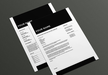 Bold Resume and Cover Letter Layout