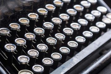 Vintage typewriter keys closeup image