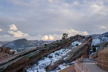 Entering Red Rocks Amphitheatre