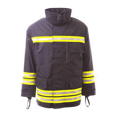Structural Fire Suit Isolated on White Background