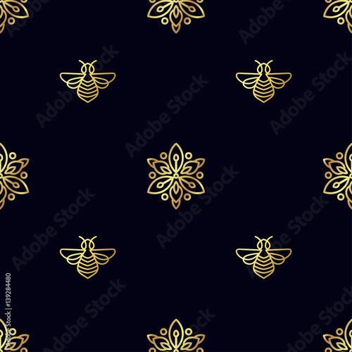 Seamless pattern with insect bee texture for corporate for Expensive wallpaper brands